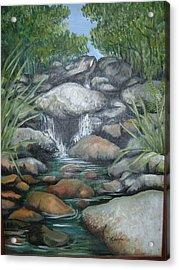 Salto La Coca Acrylic Print by Judith Correa