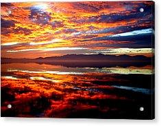 Salton Sea Sunset Number One Acrylic Print
