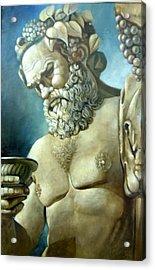 Salutations From Bacchus Acrylic Print by Geraldine Arata