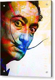Salvador Dali Acrylic Print by Andrew Osta