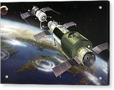 Salyut 1 Space Station, Artwork Acrylic Print by Ria Novosti