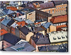 Salzburg's Roofs Austria Europe Acrylic Print by Sabine Jacobs