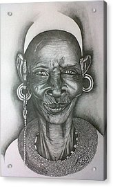 Samburu Tribe I. Acrylic Print by Paula Steffensen