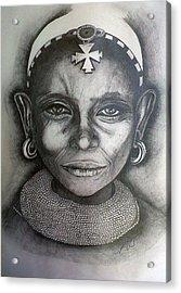 Samburu Tribe II. Acrylic Print by Paula Steffensen