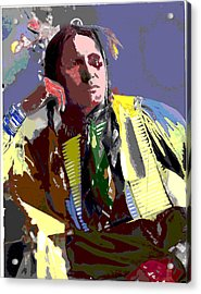 Acrylic Print featuring the mixed media Samuel American Horse by Charles Shoup