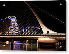 Samuel Beckett Bridge Of Dublin Acrylic Print