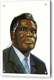 Samuel Kobia Acrylic Print by Emmanuel Baliyanga