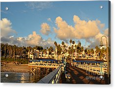 San Clement Pier And Coast Acrylic Print by Timothy OLeary