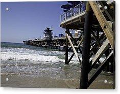 San Clemente Pier Acrylic Print by Joenne Hartley