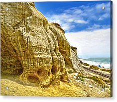 San Clemente Skull Rock Acrylic Print by Gregory Dyer
