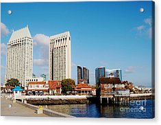 Acrylic Print featuring the photograph San Diego - Seaport Village by Jasna Gopic