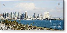 Acrylic Print featuring the photograph San Diego Bay Skyline by MaryJane Armstrong