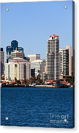 San Diego Buildings Photo Acrylic Print by Paul Velgos