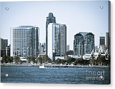 San Diego Downtown Waterfront Buildings Acrylic Print by Paul Velgos