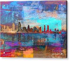 San Diego Skyline Acrylic Print by Irina Hays