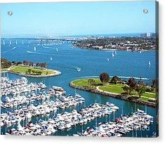 San Diego Marina And Bay Acrylic Print