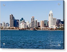 San Diego Skyline Buildings Acrylic Print by Paul Velgos
