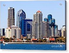San Diego Skyline Photo Acrylic Print by Paul Velgos