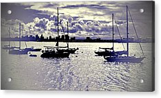 Acrylic Print featuring the digital art San Diego View From Shelter Island IIi by Visual Artist Frank Bonilla
