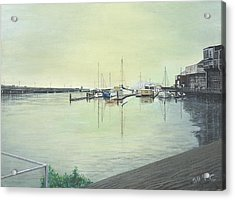 Acrylic Print featuring the painting San Franciscio Bay by Stuart B Yaeger