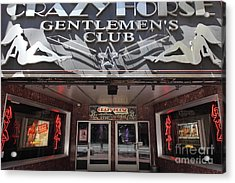 San Francisco - Crazy Horse Gentlemen's Club On Market Street - 5d17977 Acrylic Print by Wingsdomain Art and Photography