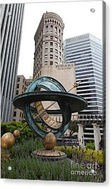 San Francisco - Hobart Building On Market Street Viewed From Top Of Crocker Galleria - 5d17872 Acrylic Print by Wingsdomain Art and Photography