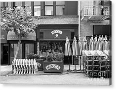San Francisco - Maiden Lane - Mocca Cafe - 5d17788 - Black And White Acrylic Print by Wingsdomain Art and Photography