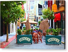 San Francisco - Maiden Lane - Outdoor Lunch At Mocca Cafe - 5d17932 - Painterly Acrylic Print by Wingsdomain Art and Photography