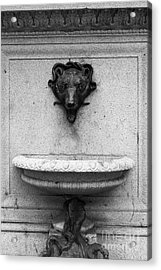 San Francisco - Monument On Market Street - 5d17847 - Black And White Acrylic Print by Wingsdomain Art and Photography