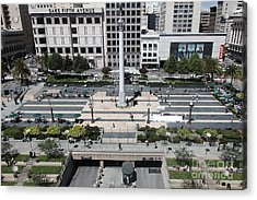 San Francisco - Union Square - 5d17942 Acrylic Print by Wingsdomain Art and Photography