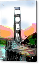 San Francisco Bay Bridge Acrylic Print by Charles Shoup