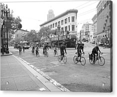 San Francisco By Cycle Acrylic Print by Thomas Brown