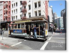 San Francisco Cable Car On Powell Street - 5d17957 Acrylic Print by Wingsdomain Art and Photography