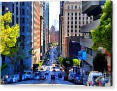 San Francisco California Street  . 7d7186 Acrylic Print by Wingsdomain Art and Photography