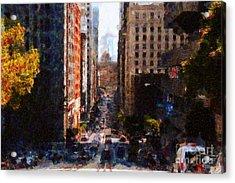 San Francisco California Street  . Painterly . 7d7186 Acrylic Print by Wingsdomain Art and Photography