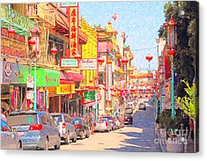 San Francisco Chinatown Acrylic Print by Wingsdomain Art and Photography