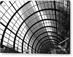 San Francisco Crocker Galleria - 5d17869 - Black And White Acrylic Print by Wingsdomain Art and Photography