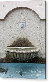 San Francisco Crocker Galleria Roof Garden Fountain - 5d17895 Acrylic Print by Wingsdomain Art and Photography