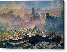 San Francisco Earthquake Acrylic Print by Pg Reproductions