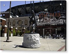 San Francisco Giants Ballpark  Statue Of Juan Marichal Acrylic Print by Paul Plaine