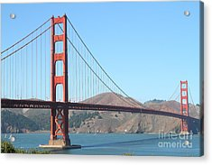 San Francisco Golden Gate Bridge . 7d7802 Acrylic Print by Wingsdomain Art and Photography