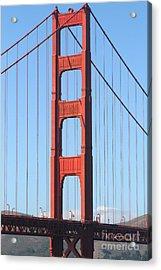 San Francisco Golden Gate Bridge . 7d7804 Acrylic Print by Wingsdomain Art and Photography
