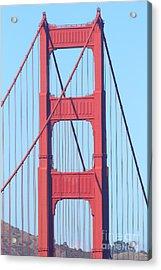 San Francisco Golden Gate Bridge . 7d7809 Acrylic Print by Wingsdomain Art and Photography