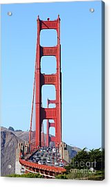 San Francisco Golden Gate Bridge . 7d8146 Acrylic Print by Wingsdomain Art and Photography
