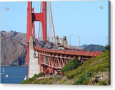 San Francisco Golden Gate Bridge . 7d8151 Acrylic Print by Wingsdomain Art and Photography