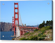 San Francisco Golden Gate Bridge . 7d8158 Acrylic Print by Wingsdomain Art and Photography
