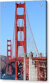 San Francisco Golden Gate Bridge . 7d8164 Acrylic Print by Wingsdomain Art and Photography
