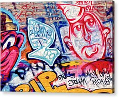 Acrylic Print featuring the photograph San Francisco Graffiti Park - 2 by Gregory Dyer