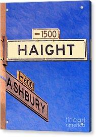 San Francisco Haight Ashbury Acrylic Print by Wingsdomain Art and Photography