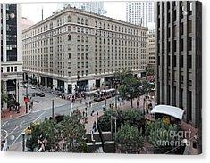 San Francisco Market Street - 5d17873 Acrylic Print by Wingsdomain Art and Photography